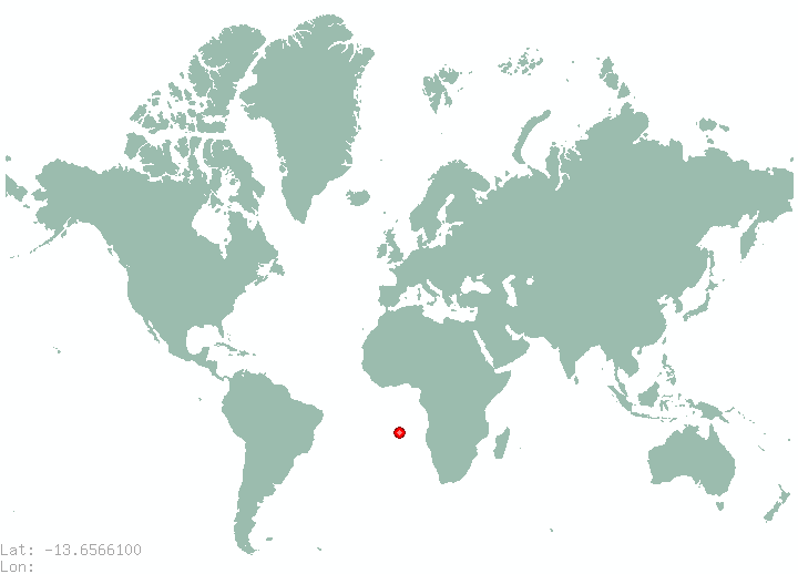 Andama in world map
